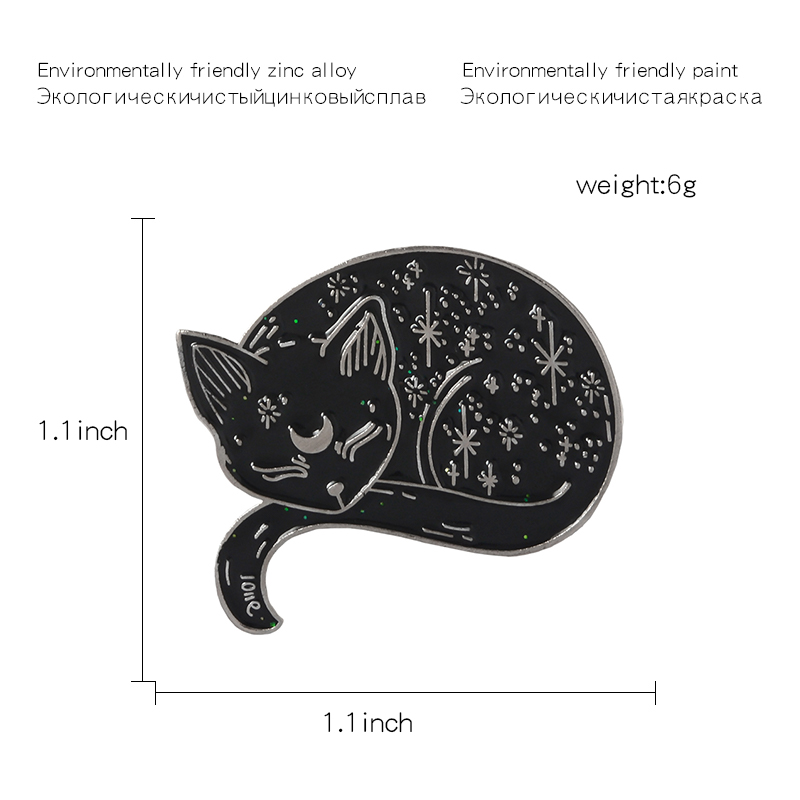 QIHE-JEWELRY-Witch-Cat-Pins-Sailor-Moon-Luna-Black-Cat-Brooches-Sleeping-Cat-Badges-Witches-Jewelry