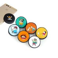 Phone-Bracket Expanding-Stand Grip Tintin Crayon Finger Shin-Chan One-Piece Cute Universal