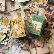 100 folhas/pacote livro mágico do vintage tema almofada de memorando retro portátil bloco de notas diário scrapbook diy decoração material papel mini nota