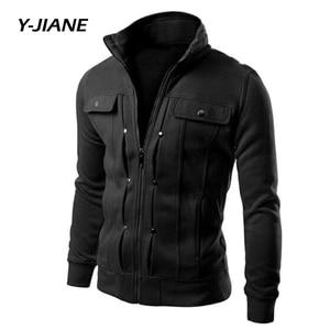 Spring New Men's Bomber Zipper Jacket Male Casual Streetwear Hip Hop Slim Fit Pilot Coat Men Clothing Plus Size Black#G3