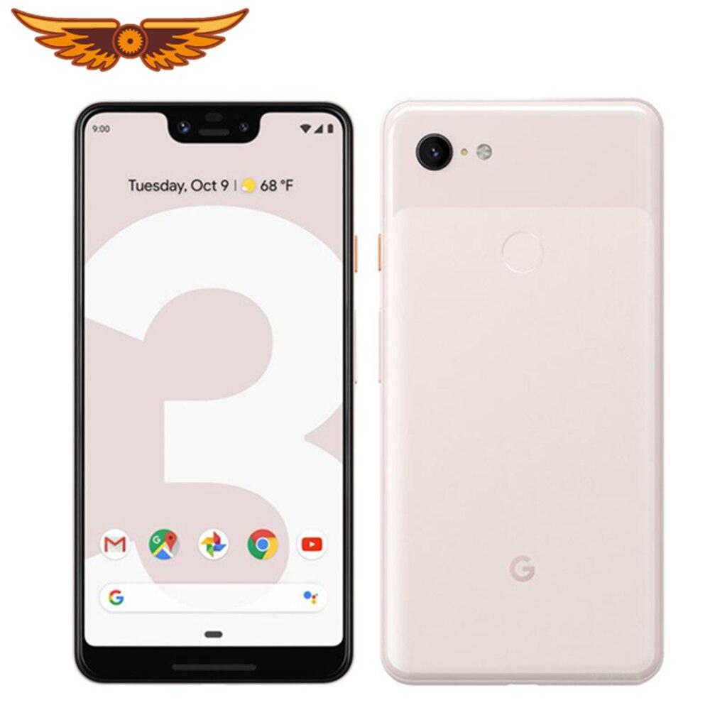 Оригинальный разблокированный смартфон Google Pixel 3 XL, восемь ядер, экран 6,3 дюйма, 4 Гб ОЗУ 64 Гб/128 Гб ПЗУ, 4G LTE, камера 12 МП, одна SIM-карта, на базе ...
