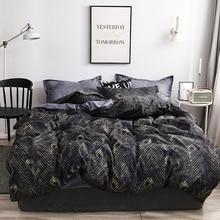 Nordic strip 3pcs bedding set Duvet Cover Pillowcases single full queen king size polyester home textile