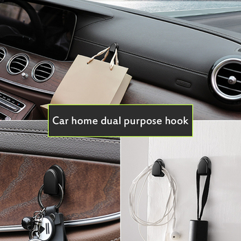 2020 Multi-functional Metal Auto Car Seat Headrest Hanger Bag Hook Holder For Bag Purse Cloth Grocery Storage Auto Fastener Clip image
