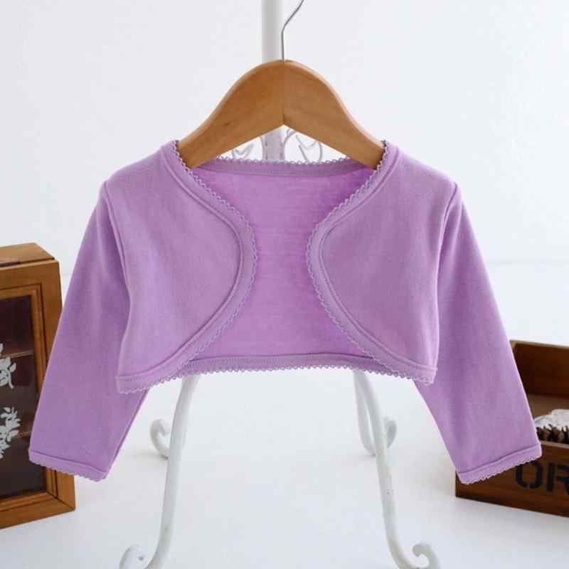 Abrigo de princesa para niñas cárdigan corto para bebés chaquetas de manga larga ropa de moda de Color sólido