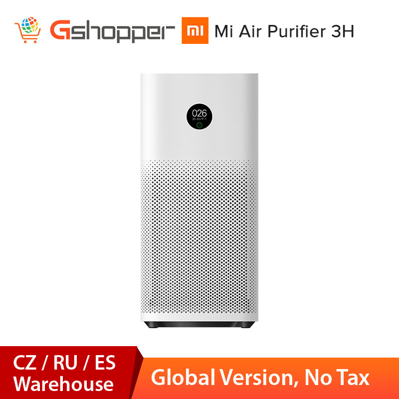 Global Version Xiaomi Mi Air Purifier 3H Sterilizer Addition Formaldehyde Wash Cleaning Intelligent Household Air Virus