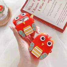 2019 New Arrival 3D cartoon owl Silicone Earphone cover earphone case For Air Pods Protector Case
