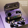 Беспроводные Bluetooth-наушники 9D стерео спортивные водонепроницаемые TWS Bluetooth 5,0 наушники светодиодный микрофоном светодиодные наушники-вклад...
