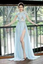 Женское шифоновое платье Русалка adyce светильник голубое длинное