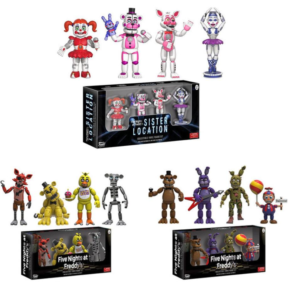 Five Night At Freddy Figure FNAF Action Figurine Bonnie Foxy Freddy Fazbear Bear Dolls PVC Model Kids Toys