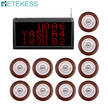 Retekess Call Customer Service Wireless Calling System Voice Report Receiver Host+10pcs Call Button Restaurant Pager