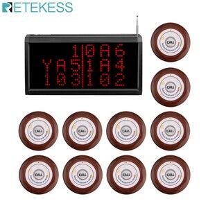 Image 1 - Retekess çağrı müşteri hizmetleri kablosuz çağrı sistemi sesli rapor alıcı konak + 10 adet çağrı düğmesi restoran çağrı cihazı