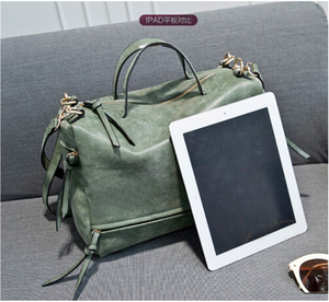 Image 5 - DIDA BEAR women handbag PU leather tote bag Retro shoulder messenger bags Tote Shopping bag green gray blue red Femme Sac a Main