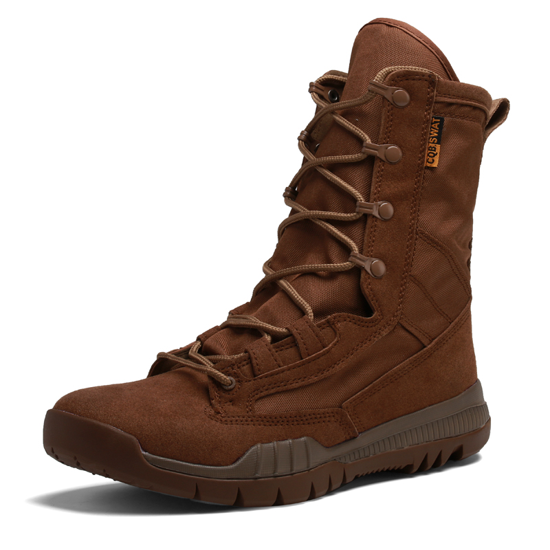 2019  High quality Male Military Tactical Boots men combat boots Desert boots Hiking Solid High top Adult Boots casual shoes    1