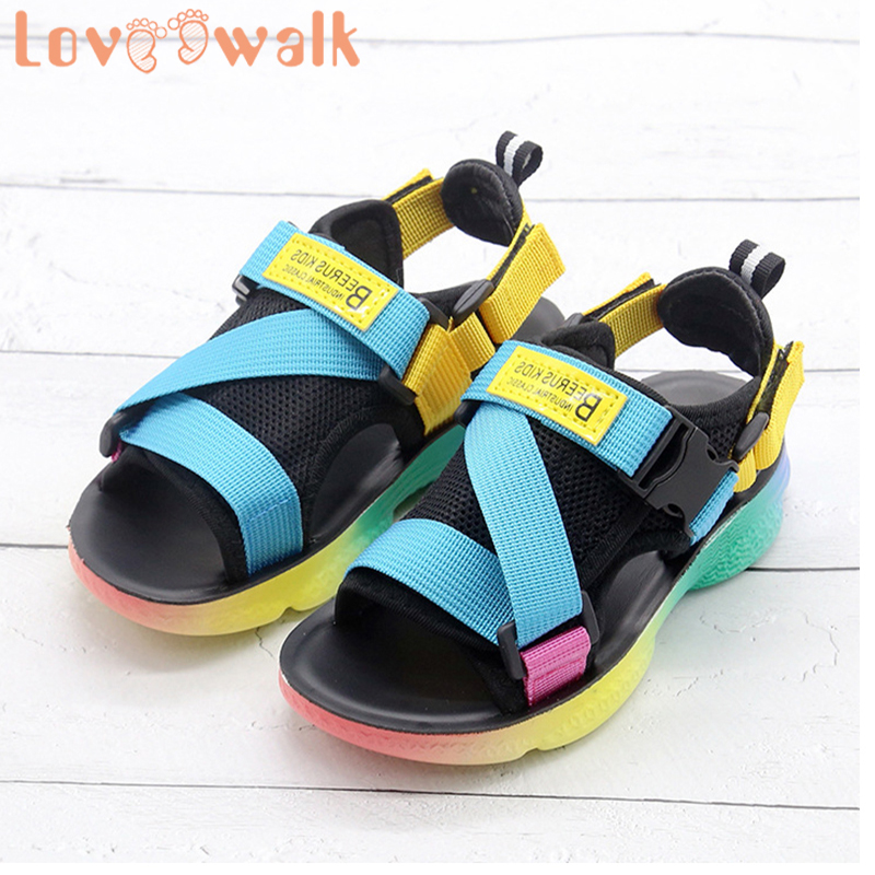 Boys Shoes Kids Sandals 2020 New Summer Children Shoes Soft Insole Removable Buckle Toddler Sandals For Girls Beach Shoes Teens