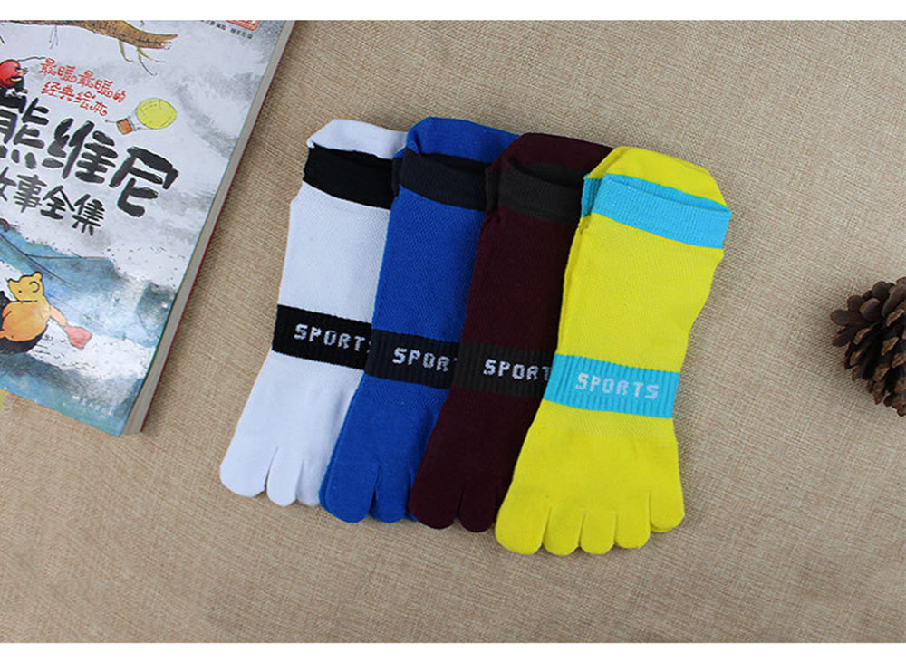 38-43 Men Outdoor Sports Bicycle Socks 1Pair Breathable 5 Finger Toe Slipper Sock Coolmax Pro Cycling Running Socks BC0337 (14)