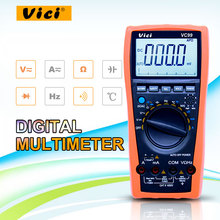 Vici VC99 digital multimeter auto range 1000v spannung widerstand kapazität meter + Thermische Paar thermometer tester