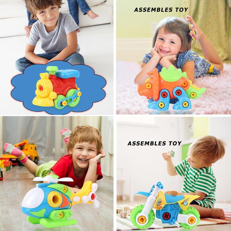 DIY Assembling Model Car Truck Manual Disassembly Assembly Nut Toy Installed Disassembly Children Early Learning Education Toy