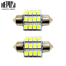 цена на 2x 31mm Festoon LED bulb c5w c10w 3528 Car Interior Lamp Map light Auto Dome Light Vanity Mirror Sun Visor Lights Bulb 12V White