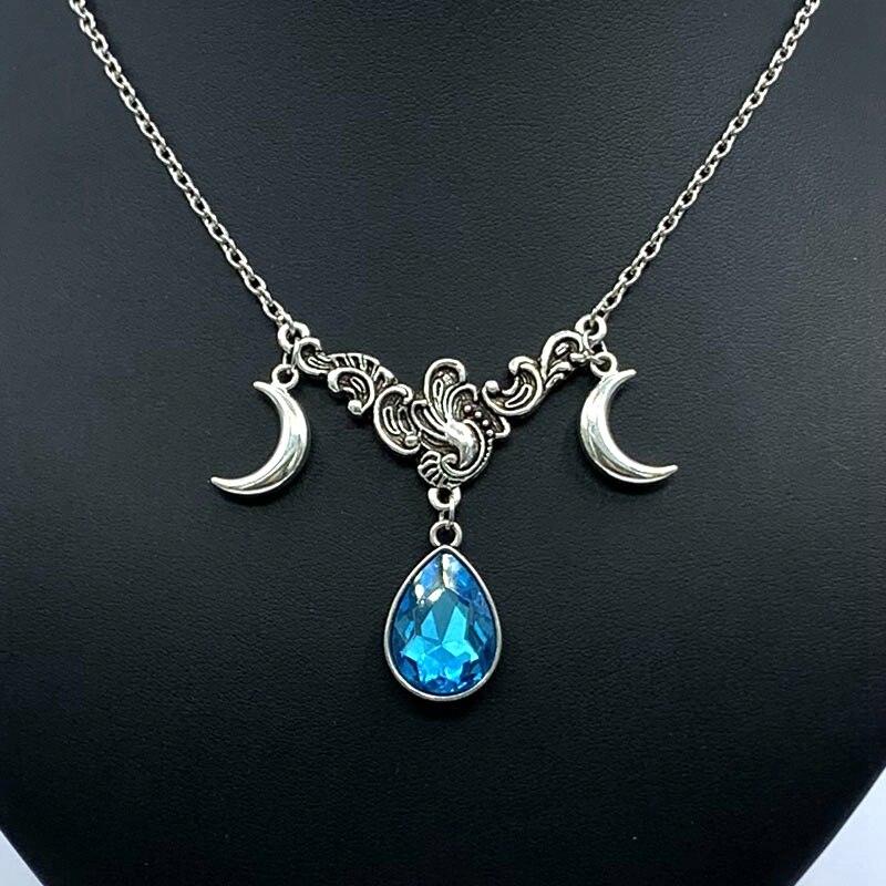 Drop Pendant Moon Necklace