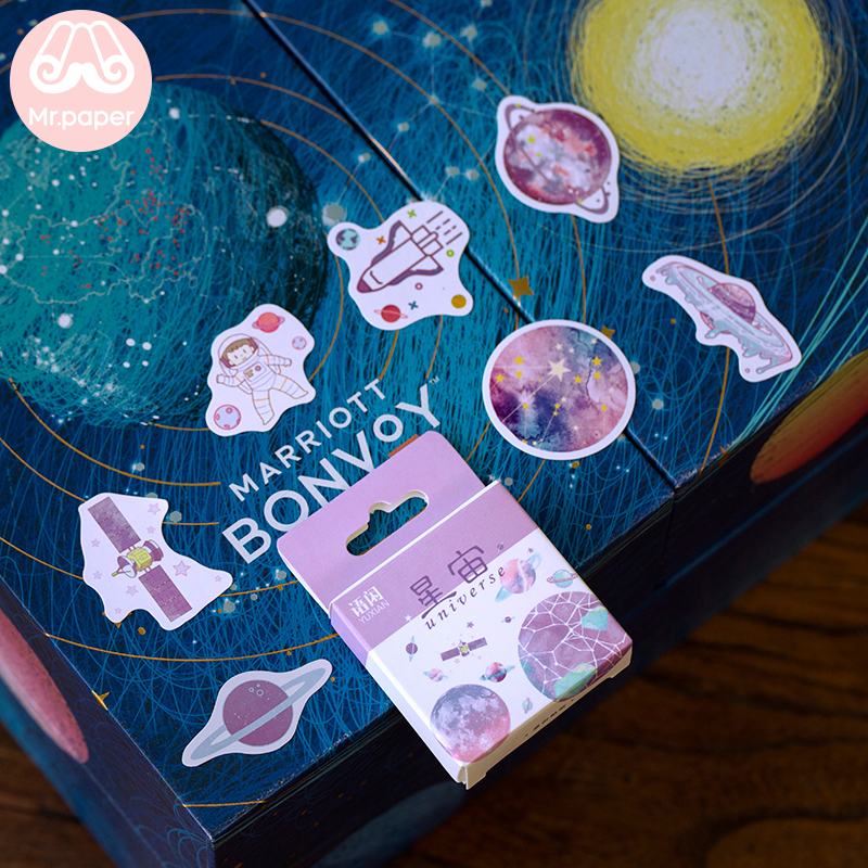 Mr.paper 50 Pcs/box 16 Designs  Cute Stickers  Stickers Scrapbooking  Diary Stickers  Custom Stickers  Art Supplies  Stickers