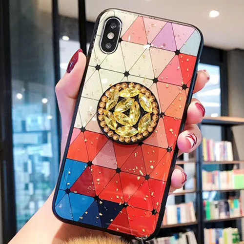 11 Pro Soft TPU DIY Bling Holder Stand Phone Case For iphone 11 Pro XSMAX 7Plus 6 6S Plus 8 Plus XS CZ diamond Glitter Cover