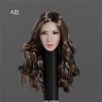 In Stock 1/6 Scale Female Asian Beauty Girl Head Sculpt SK001 Accessory Model for 12inch Action Figure DIY