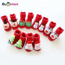 Skarpety dziecięce na skarpety świąteczne skarpetki dla noworodka gumowe podeszwy pantofel niemowlę bebe skarpety na buty z podeszwami skarpetki skórzane podeszwy tanie tanio Buddinfant W wieku 0-6m 7-12m 13-24m 25-36m 3-6y Unisex CN (pochodzenie) spandex COTTON Cotton Blend Nowość 18YS1025 Cartoon
