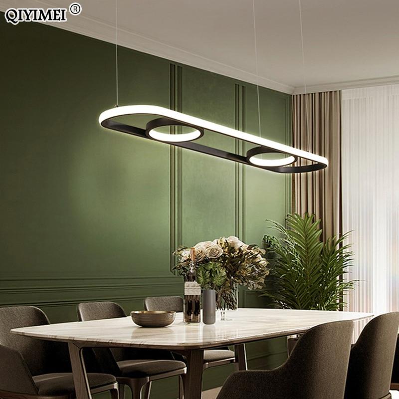 Nouveau or noir moderne pendentif LED lumières avec télécommande pour salle à manger salon chambre cuisine maison lampe Luminaire
