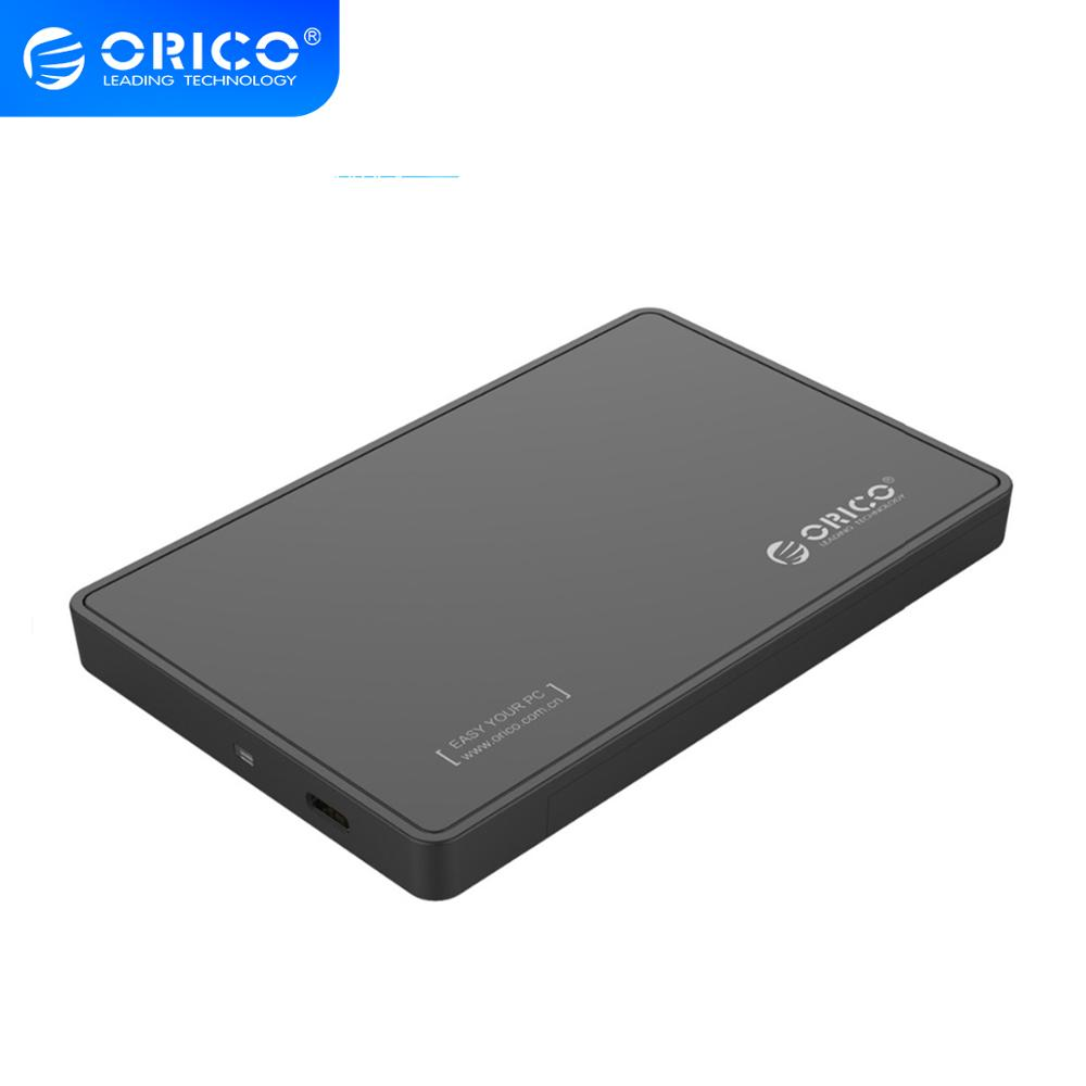 orico Black 2588C3 Type-C SATA3.0 tool free 2.5 HDD case with ABS Engineering Plastics External Storage box for hard disk image