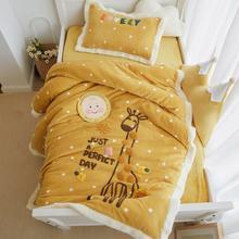 3 шт одеяло из кораллового флиса шерпа детская кровать пододеяльник