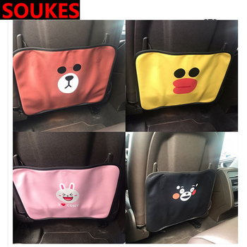 Cartoon Car Seat Child Anti kick Mat Cover For BMW E46 E39 E90 E60 E36 F30 F10 E34 X5 E53 E30 F20 E92 E87 M3 M4 M5 X3 X6 image
