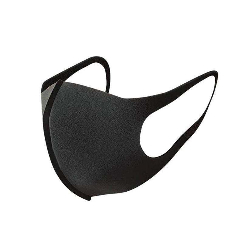 Cycling Mask Black Mouth Mask Breathable Unisex Sponge Face Mask Reusable Anti Pollution Face Shield Wind Proof Mouth Cover