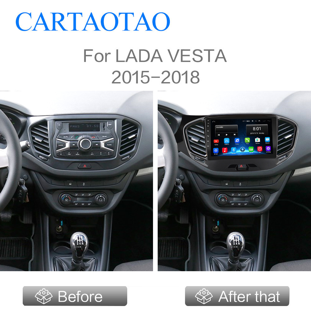 Suitable For LADA Vesta Cross Sport 2015  2016 17 2018 Car Radio Multimedia Video Player Navigation GPS Android 9.1 No DVD 2 Din