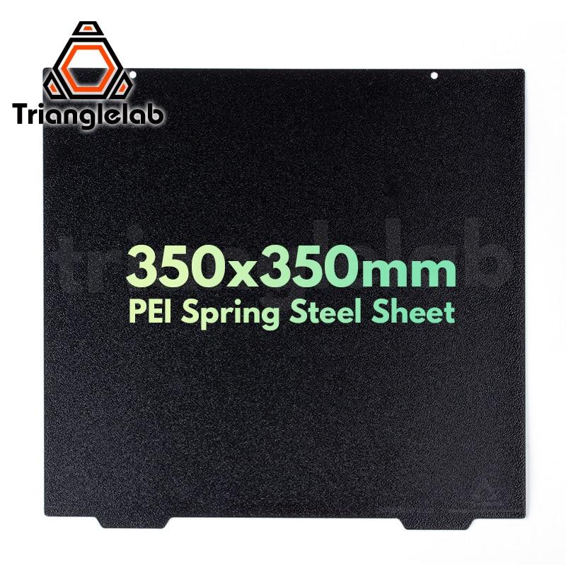 Trianglelab 350X350 doppelseitige Strukturierte PEI Frühling Stahl Blatt Pulver Beschichtet PEI Bauen Platte voron 3D drucker für ABS PETG