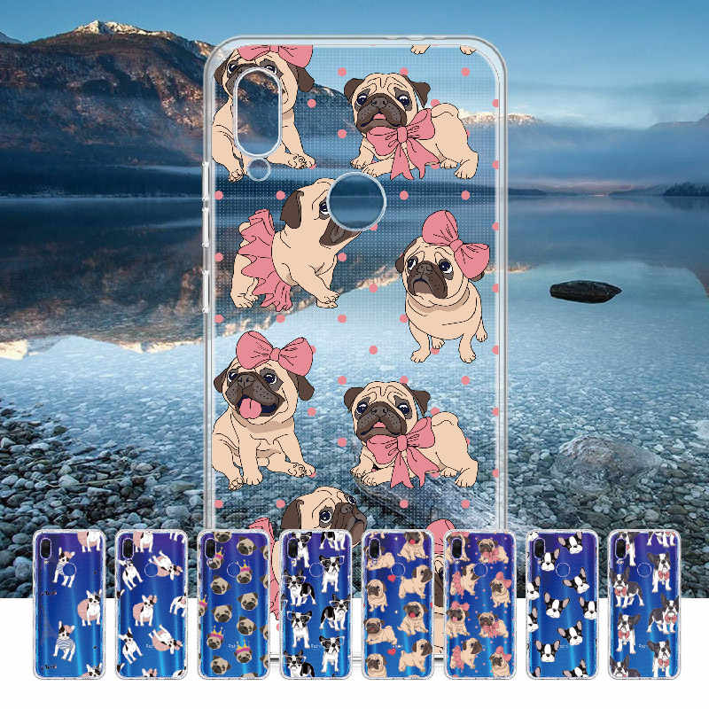 Cute Puppy Pug Bunny French Bulldog For Xiaomi Mi Redmi Note 5 6 7 8 9 lite Pro Plus Soft TPU Crystal Slim Protective Clear Case