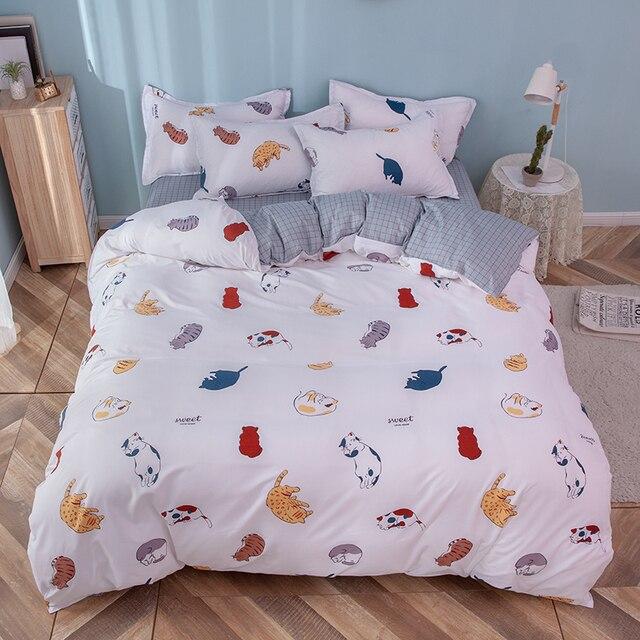 Solstice Home Textile Girl Kids Bedding Set Honey Peach Pink Duvet Cover Sheet Pillowcase Woman Adult Beds Sheet King Queen Full 3