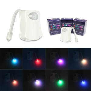 Toilet-Seat Led-Lamp Motion-Sensor Smart Backlight 8-Colors Waterproof PIR for WC