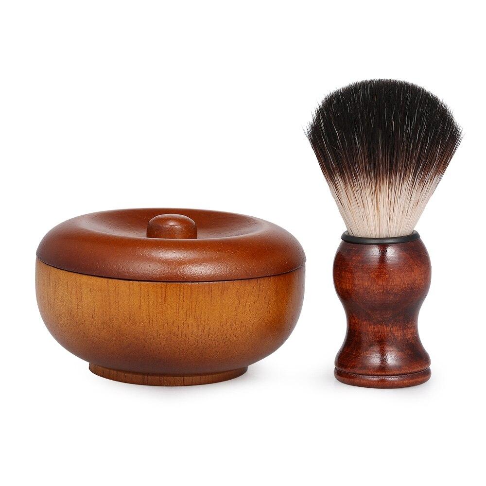Beard Shaving Cream Bowl  Shaving Soap Mug For Men With Shave Lather Brush Wooden Shaving Bowl Fashion Shaving Kits
