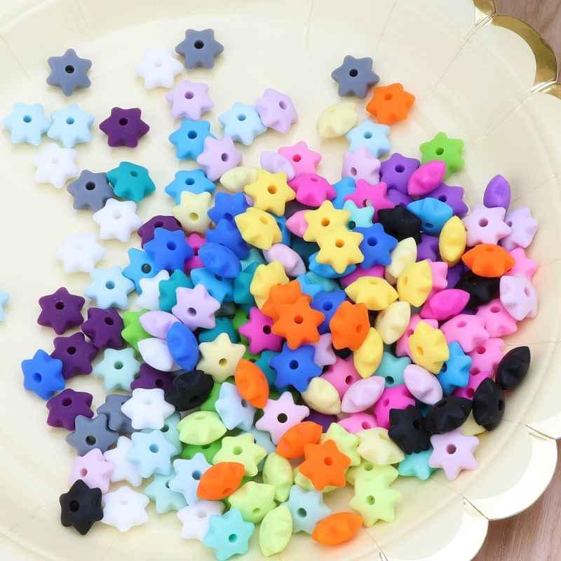10 шт Детские Прорезыватели силиконовые бусины для мамы DIY Браслеты Ожерелья ремесло ювелирные изделия