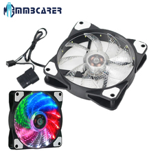 Computer Cooling Fan12CM Power Supply Cooling Fan With LED Light Multiple Colors Cooler Fan case fan computer components gpu