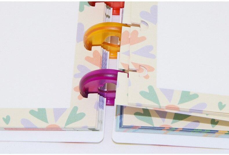 Yiwi 100pc multicolorido caderno cogumelo buraco botão