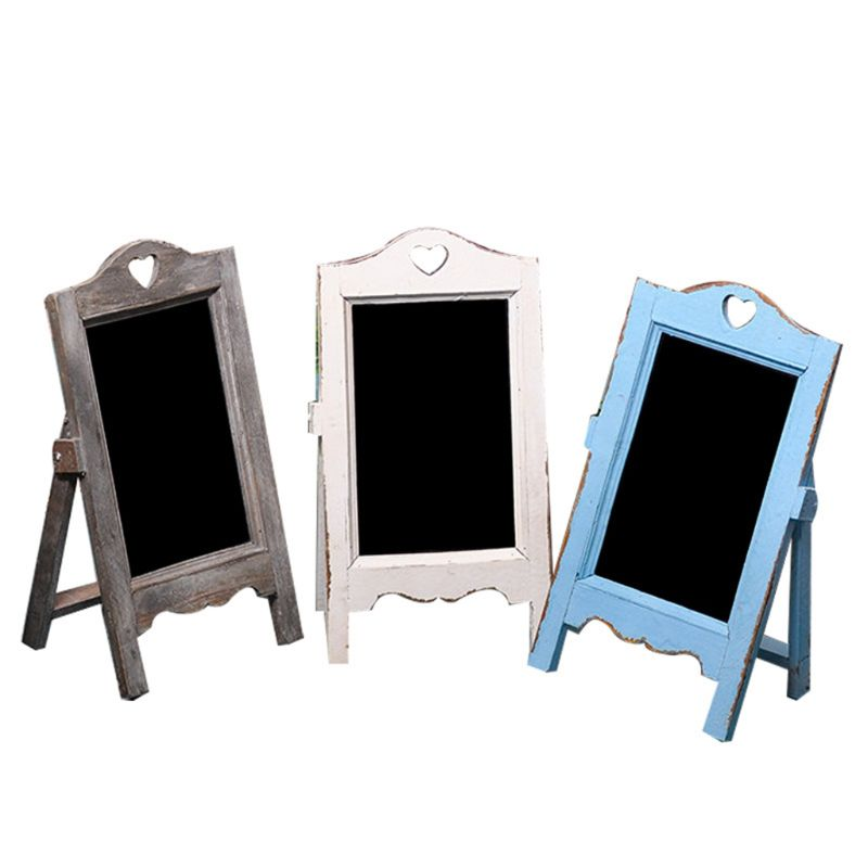 Wooden Blackboard Desktop Memo Message Letter Chalk Board With Easel Office Classroom Restaurant Store Supplier