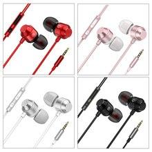 Ear-in Earphones Metal Magnetic Line Control Ergonomic Anti-slip TPE Headsets LHB99