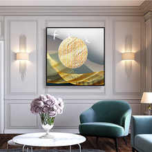 Golden Sun Abstract Art Canvas Painting Nordic Landscape Wall Art Posters And Prints Room Decoration Pictures Modern Home Decor laeacco nordic oil painting abstract forest landscape canvas posters and prints wall art canvas painting modern room decoration