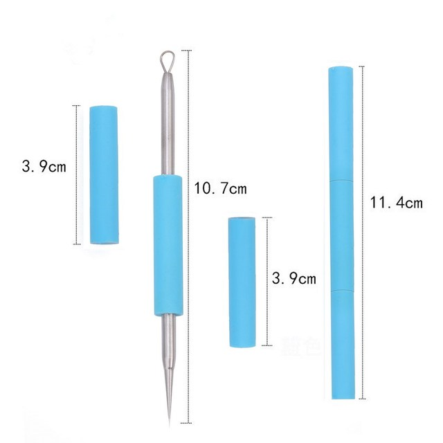 BearPaw Acne Remover Needle 1pcs Facial Acne Pimple Extractor Blackhead Remover Tool Comedone pimple remover stainless steel 3