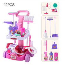 Mopping-Toy Trolley-Set Cleaning Interactive-Toys House Pretend Play Kids Birthday-Present