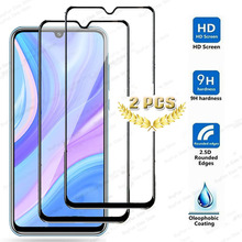 2 Pcs/lot glass on for huawei y8p glass screen protector tem