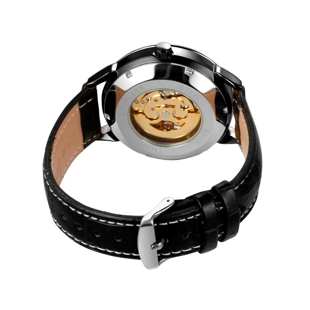 slef-winding mecânico novo steampunk relógio de pulso