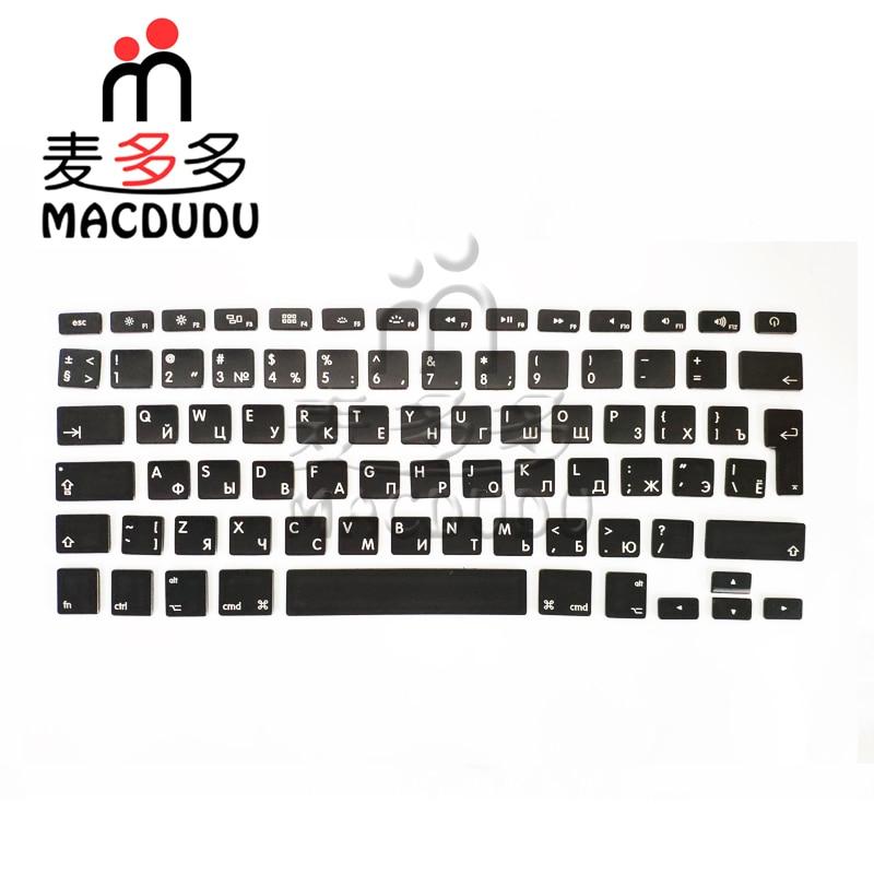 NEW Full Set RU Russian Keys For Macbook Pro Retina A1466 A1369 A1370 A1465 A1425 A1502 A1398 *Verified Supplier*