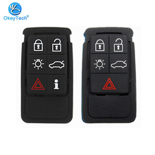OkeyTech Smart Key Pad Replacement Silicone Car Key Case for Volvo S60 V60 S70 V70 XC60 XC70 Repair Rubber Mat 5 6 Button